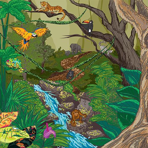 jungle illustration graphic